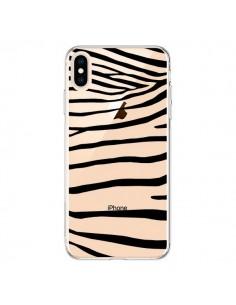 Coque iPhone XS Max Zebre Zebra Noir Transparente souple - Project M