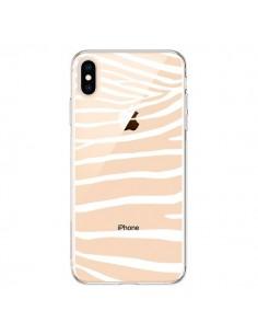 Coque iPhone XS Max Zebre Zebra Blanc Transparente souple - Project M
