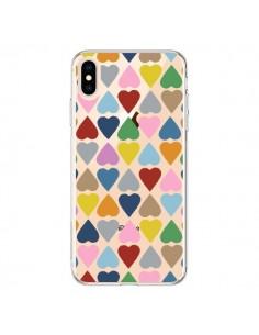 Coque iPhone XS Max Coeurs Heart Couleur Transparente souple - Project M