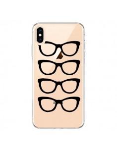 Coque iPhone XS Max Sunglasses Lunettes Soleil Noir Transparente souple - Project M