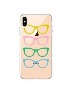 Coque iPhone XS Max Sunglasses Lunettes Soleil Couleur Transparente souple - Project M