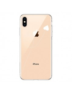 Coque iPhone XS Max Travel to your Heart Blanc Voyage Coeur Transparente souple - Project M
