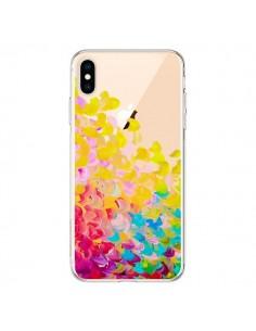 Coque iPhone XS Max Creation in Color Jaune Yellow Transparente souple - Ebi Emporium