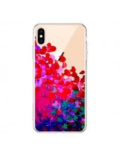 Coque iPhone XS Max Creation in Color Pink Rose Transparente souple - Ebi Emporium
