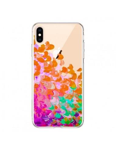 Coque iPhone XS Max Creation in Color Orange Transparente souple - Ebi Emporium