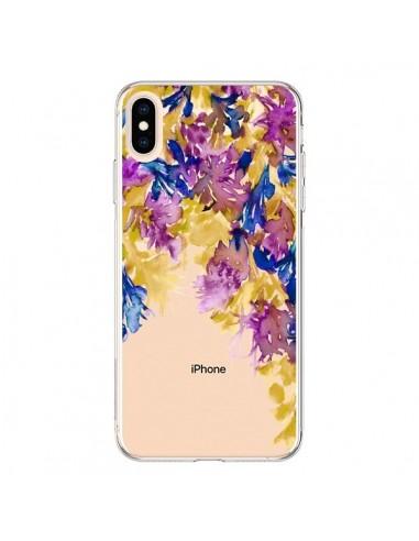 Coque iPhone XS Max Cascade Florale Transparente souple - Ebi Emporium