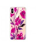 Coque iPhone XS Max Roses Fleur Flower Transparente souple - Ebi Emporium