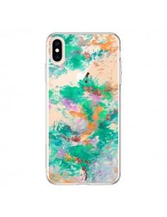 Coque iPhone XS Max Mermaid Sirene Fleur Flower Transparente souple - Ebi Emporium