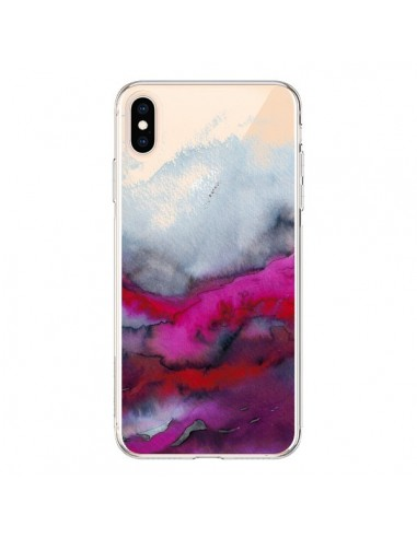 Coque iPhone XS Max Winter Waves Vagues Hiver Transparente souple - Ebi Emporium