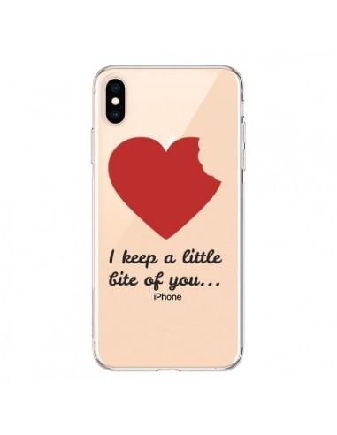 Coque iPhone XS Max I keep a little bite of you Love Heart Amour Transparente souple - Julien Martinez
