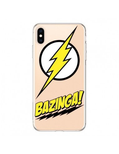 Coque iPhone XS Max Bazinga Sheldon The Big Bang Thoery Transparente souple - Jonathan Perez