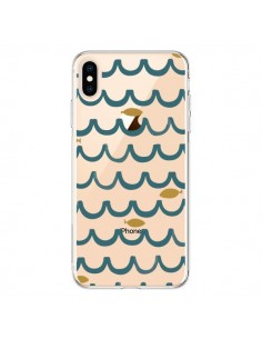 Coque iPhone XS Max Poisson Fish Water Transparente souple - Dricia Do