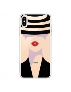 Coque iPhone XS Max Femme Chapeau Hat Lady Transparente souple - Dricia Do