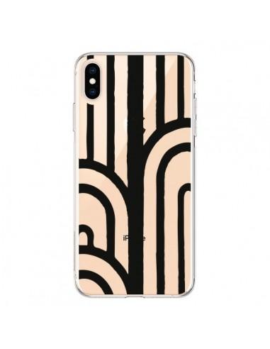 Coque iPhone XS Max Geometric Noir Transparente souple - Dricia Do