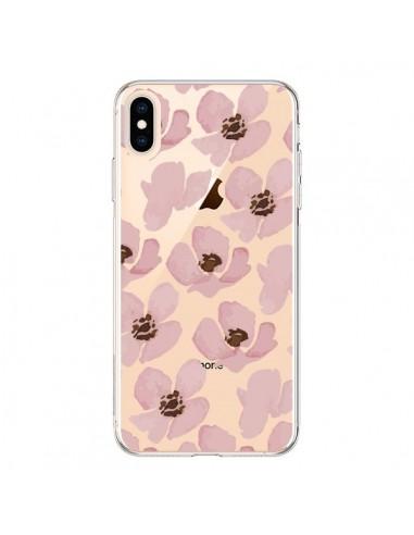 Coque iPhone XS Max Fleurs Roses Flower Transparente souple - Dricia Do