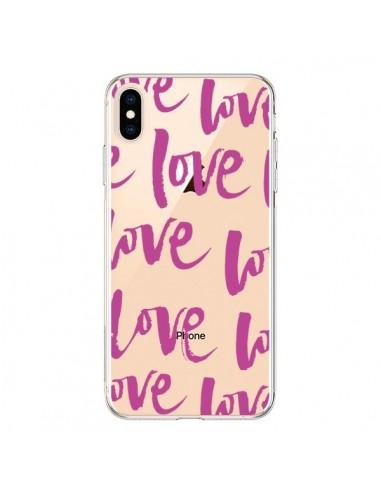Coque iPhone XS Max Love Love Love Amour Transparente souple - Dricia Do
