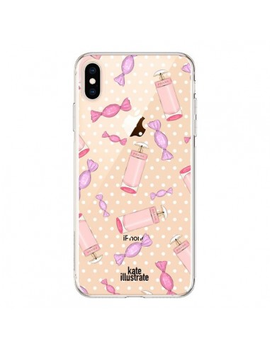 Coque iPhone XS Max Candy Bonbons Transparente souple - kateillustrate