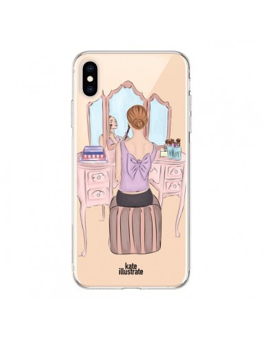 Coque iPhone XS Max Vanity Coiffeuse Make Up Transparente souple - kateillustrate