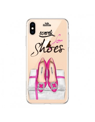 Coque iPhone XS Max I Work For Shoes Chaussures Transparente souple - kateillustrate