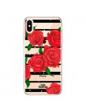 Coque iPhone XS Max Red Roses Rouge Fleurs Flowers Transparente souple - kateillustrate