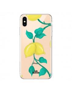 Coque iPhone XS Max Lemons Citrons Transparente souple - kateillustrate