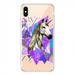 Coque iPhone XS Max Licorne Unicorn Azteque Transparente souple - Kris Tate