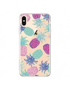 Coque iPhone XS Max Ananas Pineapple Fruit Ete Summer Transparente souple - Lisa Argyropoulos
