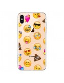 Coque iPhone XS Max Emoticone Emoji Transparente souple - Laetitia