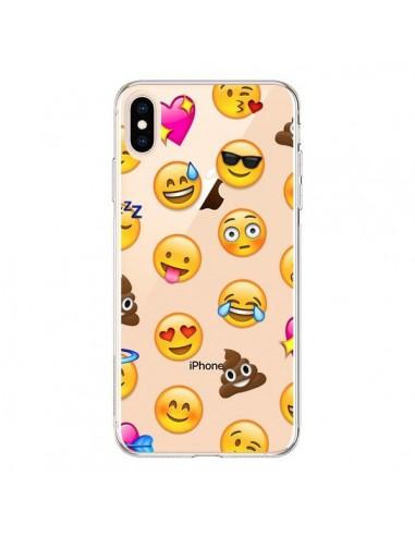 Coque iPhone XS Max Emoticone Emoji Transparente souple - Laetitia