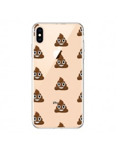 Coque iPhone XS Max Shit Poop Emoticone Emoji Transparente souple - Laetitia