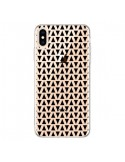 Coque iPhone XS Max Triangles Romi Azteque Noir Transparente souple - Laetitia