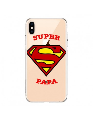 Coque iPhone XS Max Super Papa Transparente souple - Laetitia