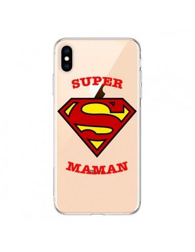 Coque iPhone XS Max Super Maman Transparente souple - Laetitia