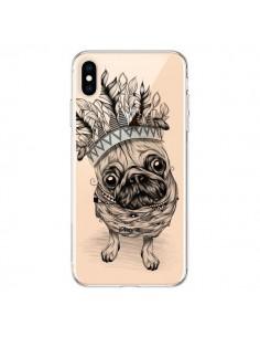 Coque iPhone XS Max Chien Roi Bulldog Indien Transparente souple - LouJah