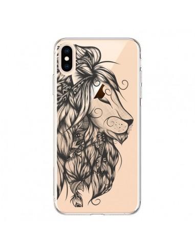 Coque iPhone XS Max Lion Poétique Transparente souple - LouJah
