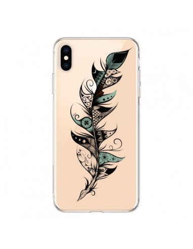 Coque iPhone XS Max Plume Poétique Transparente souple - LouJah