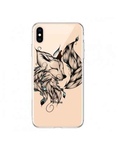 Coque iPhone XS Max Renard Transparente souple - LouJah
