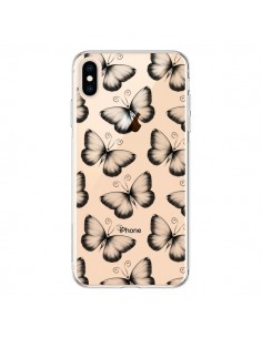 Coque iPhone XS Max Papillons Transparente souple Transparente souple - LouJah
