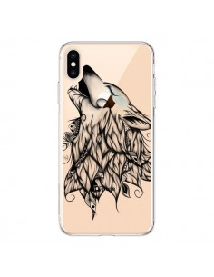 Coque iPhone XS Max Loup Hurlant Transparente souple - LouJah