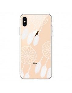 Coque iPhone XS Max Attrape Rêves Blanc Dreamcatcher Triple Transparente souple - Petit Griffin