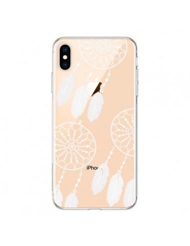 Coque iPhone XS Max Attrape Rêves Blanc Dreamcatcher Triple Transparente souple - Petit Griffin