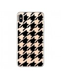 Coque iPhone XS Max Vichy Gros Carre noir Transparente souple - Petit Griffin