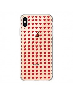 Coque iPhone XS Max Coeurs Heart Love Amour Red Transparente souple - Petit Griffin
