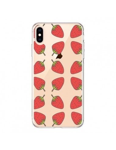 Coque iPhone XS Max Fraise Fruit Strawberry Transparente souple - Petit Griffin