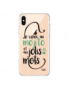 Coque iPhone XS Max Je veux un mojito et des jolis mots Transparente souple - Lolo Santo