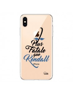 Coque iPhone XS Max Plus Fatale que Kendall Transparente souple - Lolo Santo