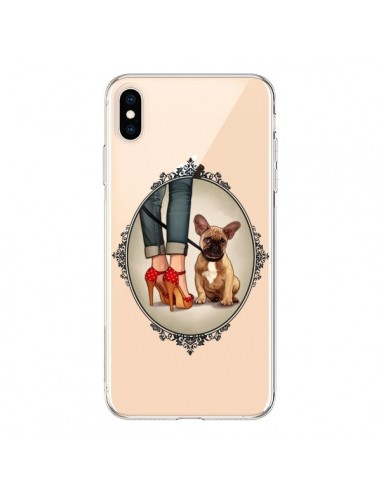 Coque iPhone XS Max Lady Jambes Chien Bulldog Dog Transparente souple - Maryline Cazenave