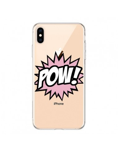 Coque iPhone XS Max Pow Transparente souple - Maryline Cazenave