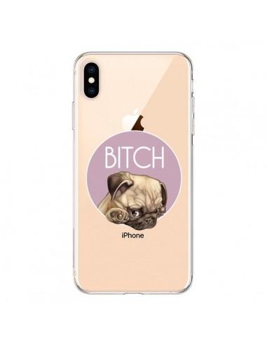 Coque iPhone XS Max Bulldog Bitch Transparente souple - Maryline Cazenave