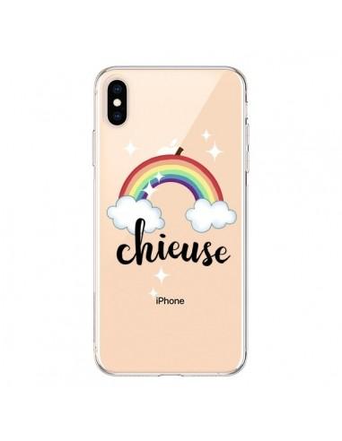 Coque iPhone XS Max Chieuse Arc En Ciel Transparente souple - Maryline Cazenave